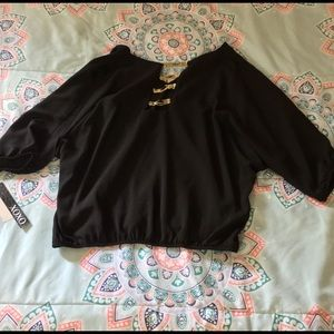 NWT Adorable Black XOXO blouse